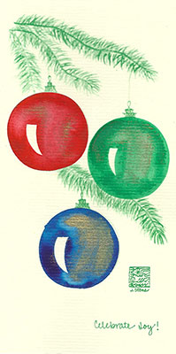 10se-Box - Three Ornaments - Box of 8 or 10