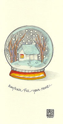 17se-Box - Snow Globe - Box of 8 or 10