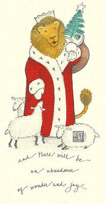 18se-Box - Santa Lion - Box of 8 or 10