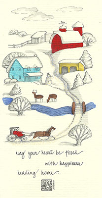 39se-Box - Horse & Barn - Box of 8 or 10