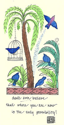 81c-Box - Caged Bird - Box of 8 or 10
